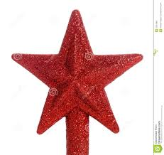 red glitter star christmas tree topper royalty free stock image