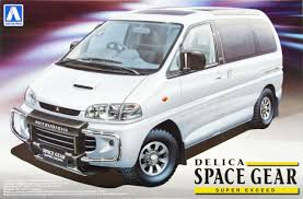 mitsubishi delica 2016 aoshima 09642 mitsubishi delica space gear super exceed 1 24 scale