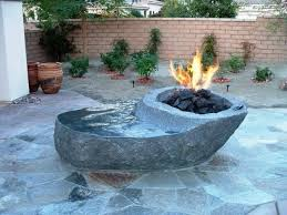 Fire Pit With Water Feature - inspiration for backyard fire pit designs decor around the world