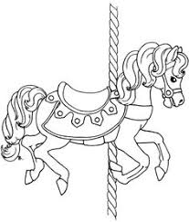 merry go round coloring pages beautiful carousel horse coloring pages crafting for adults