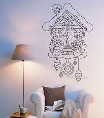 online get cheap fairytale wall mural aliexpress com alibaba group fairytale cuckoo clock watch wall vinyl wall sticker for kids bedroom mural romantic baby nursery