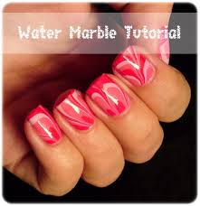 water marble nail art step by step