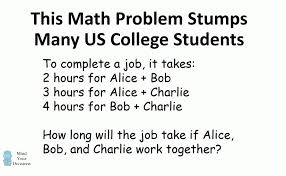 college work can you solve a math word problem that stumps us college students a