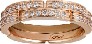 cartier alliances crb4098800 maillon panthère thin wedding band 2 half diamond