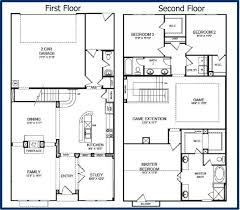 charming two story house plans with loft 5 house plan 2545