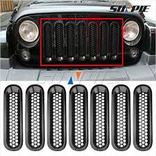 jeep wrangler front grill front grill mesh grille insert kit for jeep wrangler unlimited