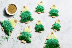 Decorated Christmas Tree Cookies by Ombre Christmas Tree Cookies Recipe Epicurious Com