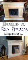 build your own faux fireplace with hidden storage diy fake