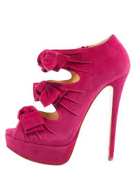 Christian Louboutin Stiletter Suede Butterfly Bootie Shoes Køb