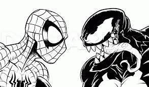 draw spider man venom step library