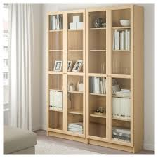 Billy Bookcase With Glass Doors Living Room Billy Oxberg Bookcase White Glass Ikea With White
