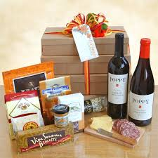 gourmet gift monterey poppy wine and gourmet gift tower california delicious