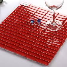 crystal glass tile brick rectangle kitchen backsplash tiles