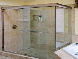 glass shower sliding doors about semi frameless shower door before installation