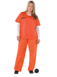prisoner costume plus size orange inmate costume 845523 55 fancy dress