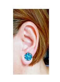 pressure earrings flowers clip on finger pressure earrings 13 15mm for non