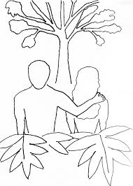 coloring page for adam and eve free bible stories for children