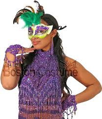 mardi gras boas mardi gras mask with green feathers at boston costume