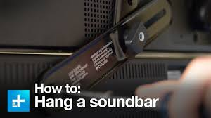 samsung tv wall mount kit how to hang a sound bar using the sanus sa405 sound bar mount