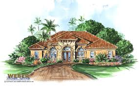 Mediterranean Houses by Spanish House Plans Mediterranean Style Greatroom Courtyard For