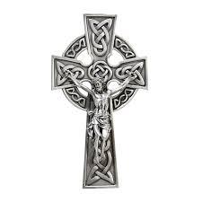 celtic crucifix brennan knotted celtic crucifix pewter