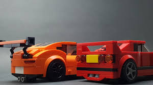 lego ferrari f40 speed champions moc ferrari f40 and porsche gt3 rs album on imgur