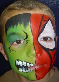 spiderman hulk truccabimbi spiderman face