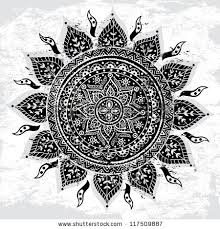 vintage indian sun ornament stock vector 117509887