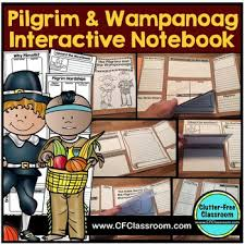 pilgrims americans thanksgiving lapbook wampanoag