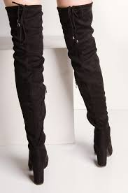 thigh high boots black thigh high boots lace up thigh high