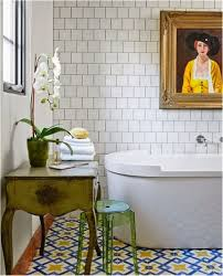 Eclectic Bathroom Ideas Horrible Design Idea Of Eclectic Bathroom Interior With White