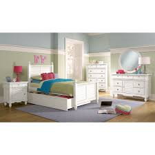 Twin Bed Room Seaside Twin Bed With Trundle White American Signature Furniture