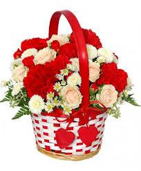 flower basket my sweetie bouquet flower basket in columbus wi secret garden