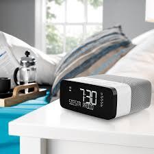 buy pure siesta rise dab fm bedside clock radio john lewis