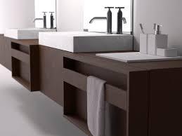 muebles de lavabo mueble de lavabo doble suspendido de madera moderno plus by