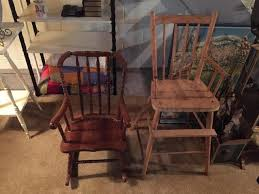 Antique Wooden High Chair Hanscom Park Retro U0026 Vintage Household Estate Online Auction