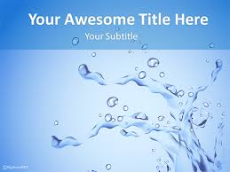 Water Powerpoint Templates by Water Powerpoint Template Free Water Themed Powerpoint Template