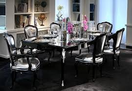 Mirrored Dining Room Furniture Mirrored Dining Room Tables Mirrored Furniture In The Interior Of