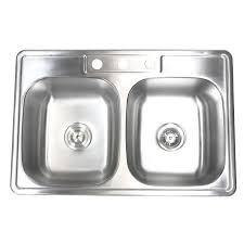 Kitchen Sinks Drop In Double Bowl by 33 Inch Stainless Steel Top Mount Drop In 50 50 Double Bowl