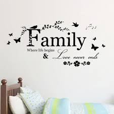 wedding quotes about family 5pcs family never ends quote vinyl wall decal wall lettering