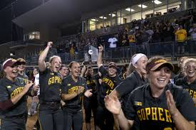 unseeded in ncaas gophers softball now ranked no 1 in the nation