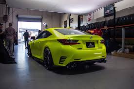 lexus yellow lexus rc f sport in yellow fluorescent u2013 orafol vehicle wraps