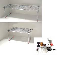 new stainless extendable under sink organizer storage shelf