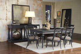 vintage tempo leg table dining room set in charcoal black by