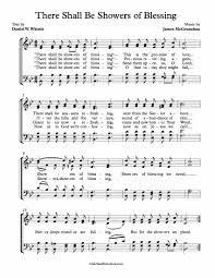 free choir sheet there shall be showers of blessing