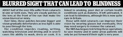 Can Cataracts Lead To Blindness How Vitamin Pills U0027can Raise Risk Of Cataracts U0027 As Hidden Danger