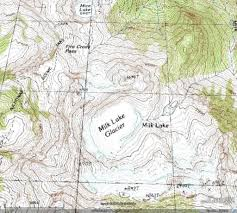 Washington Square Map by Milk Lake Glacier Loss North Cascades Washington From A