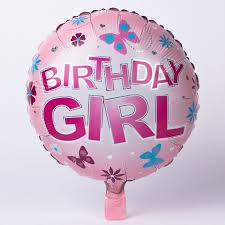 helium birthday balloons pink birthday girl foil helium balloon only 2 49