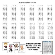 of the galaxy multiplication facts game 156 cards facts 0 12