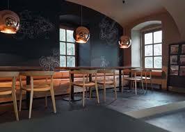 café interior design trendy black color gradation concept home
